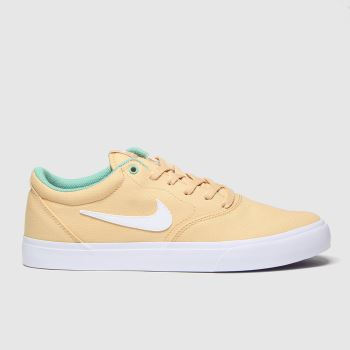 Nike SB Beige Charge Mens Trainers