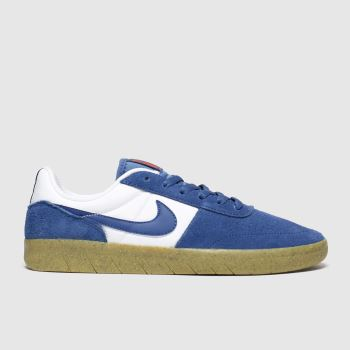 Nike SB White & Blue Team Classic Mens Trainers