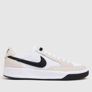 Nike SB White & Black Adversary Mens Trainers