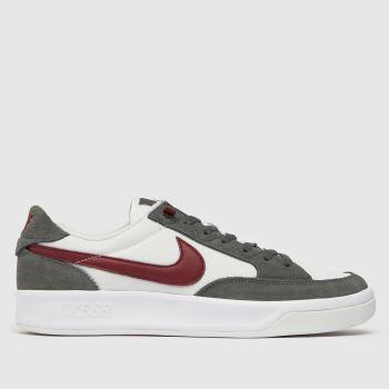 Nike SB White & grey Adversary Premium Mens Trainers