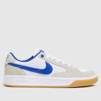 Nike SB White & Blue Adversary Mens Trainers