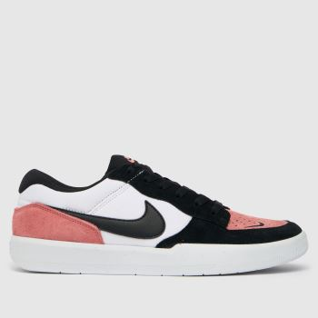 Nike SB White & Pink Force 58 Mens Trainers