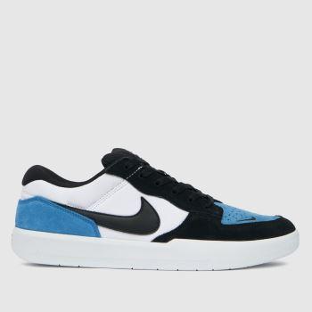 Nike SB White & Blue Force 58 Mens Trainers