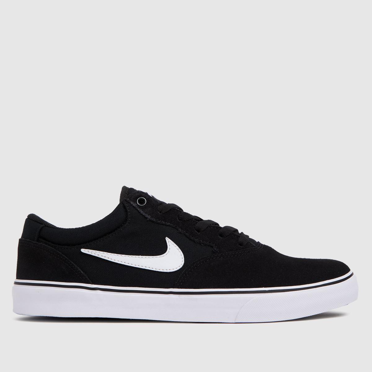 Nike Black & White Chron 2 Trainers