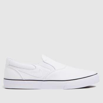Nike White & Black Chron 2 Slip Mens Trainers