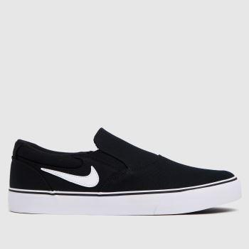 Nike Black & White Sb Chron 2 Slip Mens Trainers