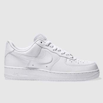 outlet store 2eba8 05edf Nike White Air Force 1 07 Mens Trainers