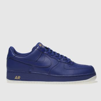 Nike Blue Air Force 1 07 Mens Trainers