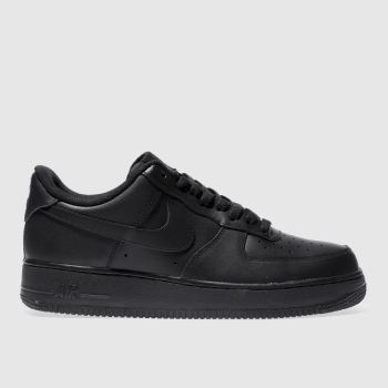 save off cc016 61f1f Nike Black Air Force 1 07 Mens Trainers