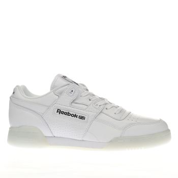 REEBOK WHITE & BLACK WORKOUT PLUS 1D TRAINERS