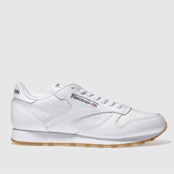 Reebok White Classic Leather Mens Trainers