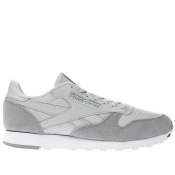 147f69ec30cab mens grey reebok classic leather trainers   schuh
