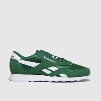 Reebok Green Classic Nylon Mens Trainers