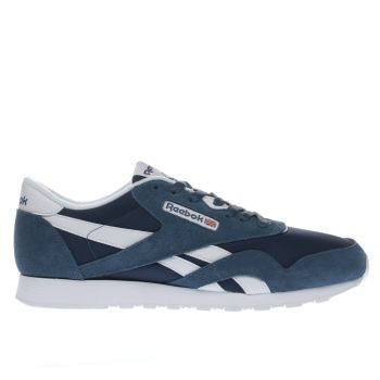 Reebok Navy Classic Nylon Mens Trainers