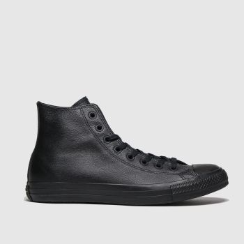 Converse Black All Star Mono Hi Mens Trainers#