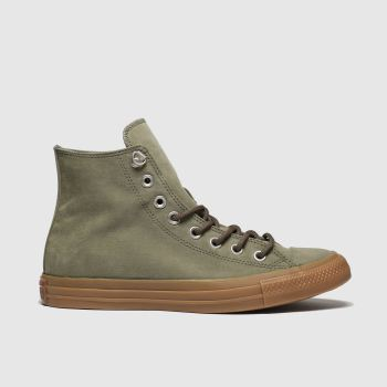 Converse Khaki Earthy Buck Trek Hi c2namevalue::Mens Trainers