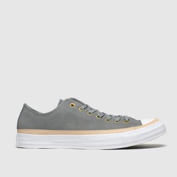 Converse Grey All Star Vachetta Ox c2namevalue::Mens Trainers