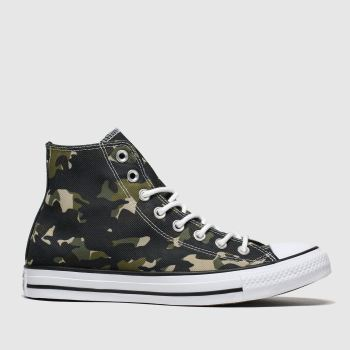 Converse Khaki All Star Camo Hi Mens Trainers