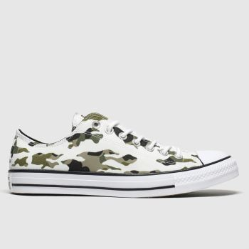 Converse White & Green All Star Hoop Hunter Ox Mens Trainers