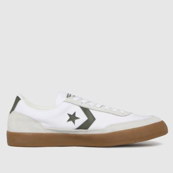 Converse White & Green Net Star Classic Mens Trainers