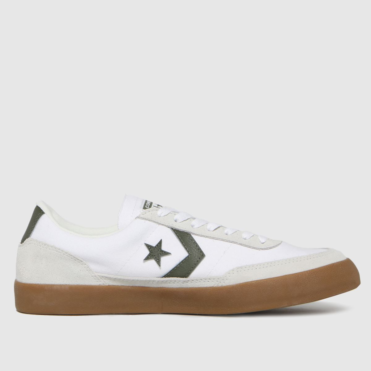 Converse White & Green Net Star Classic Trainers