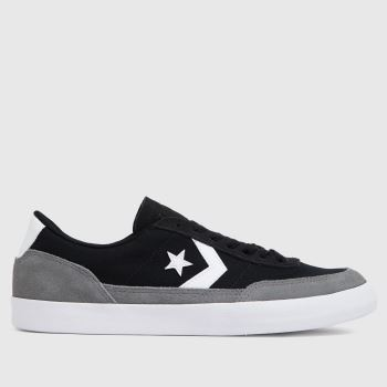 Converse Black & Grey Net Star Classic Ox Mens Trainers