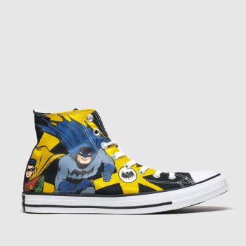 Converse Yellow All Star Hi Batman & Robin Mens Trainers