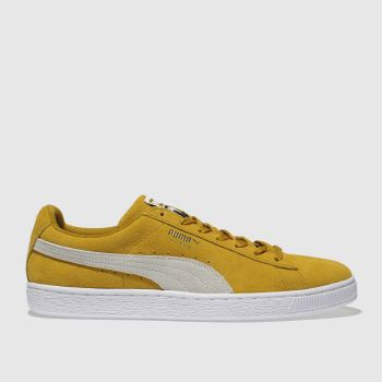 Puma Yellow Suede Classic Mens Trainers