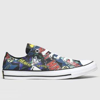 Converse Black & Navy  All Star Ox Batman & Joker c2namevalue::Mens Trainers