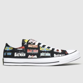 Converse Black & Red All Star Ox Batman Mens Trainers