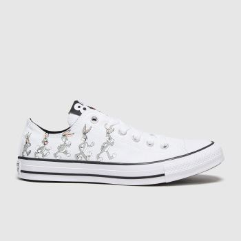 Converse White & grey Ox Bugs 80th Mens Trainers