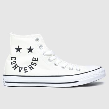Converse White & Black Hi Smile Trainers