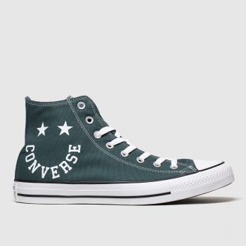 Converse Dark Green Hi Smile Mens Trainers