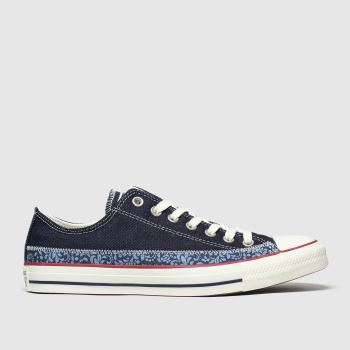 Converse Navy Ox Floral Mens Trainers
