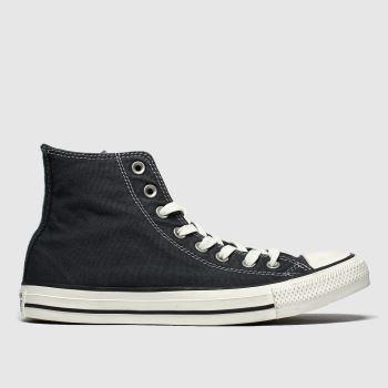 Converse Black Hi Washed Mens Trainers