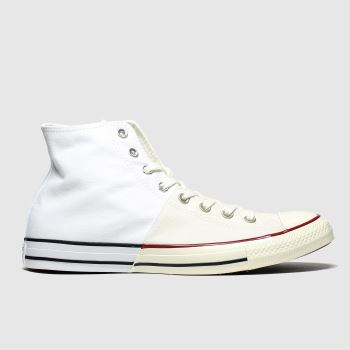Converse White Split Hi c2namevalue::Mens Trainers