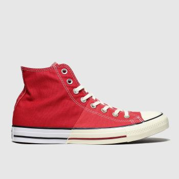 Converse Red Split Hi c2namevalue::Mens Trainers