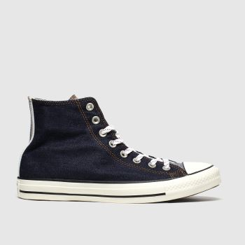 Converse Navy All Star Denim Hi Mens Trainers
