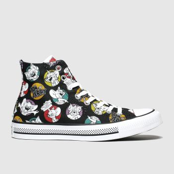 Converse Black & White All Star Hi Tom & Jerry Mens Trainers