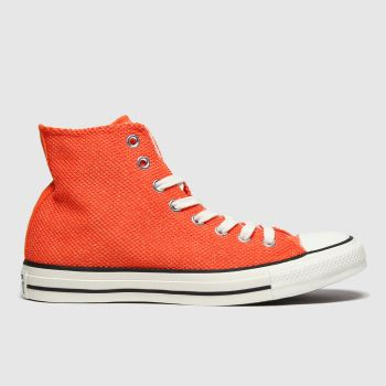 Converse Orange All Star Breathable Hi Mens Trainers