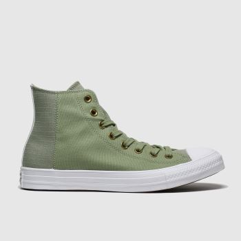 Converse Khaki All Star Clean N Preme Hi Mens Trainers