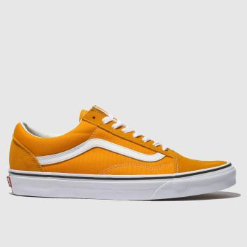 Vans Orange Old Skool Mens Trainers