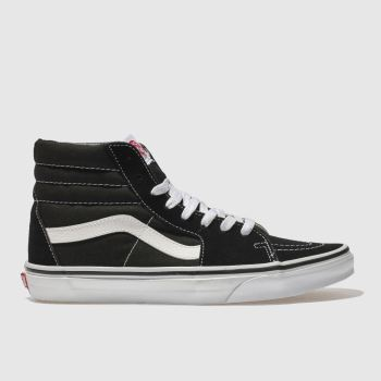 Vans Black & White Sk8-hi c2namevalue::Mens Trainers