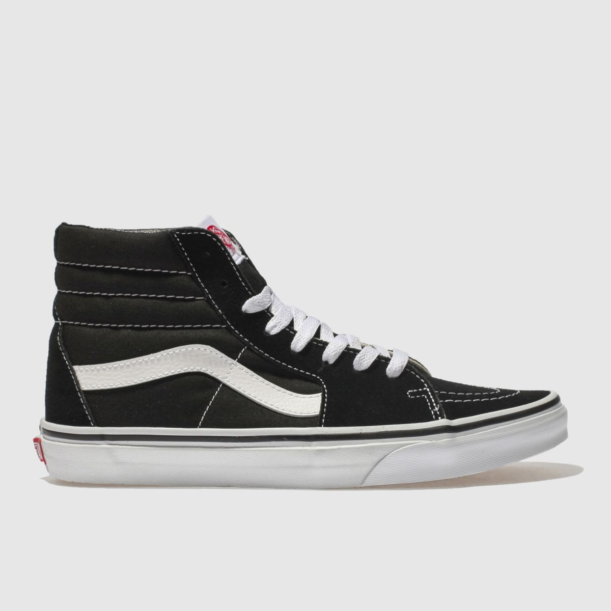 Click to view product details and reviews for Vans Black White Sk8 Hi Trainers.