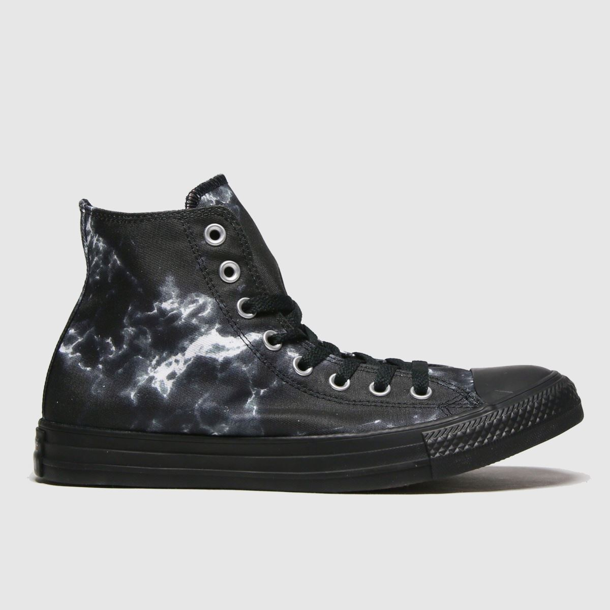 Converse Black & White Marble Hi Trainers
