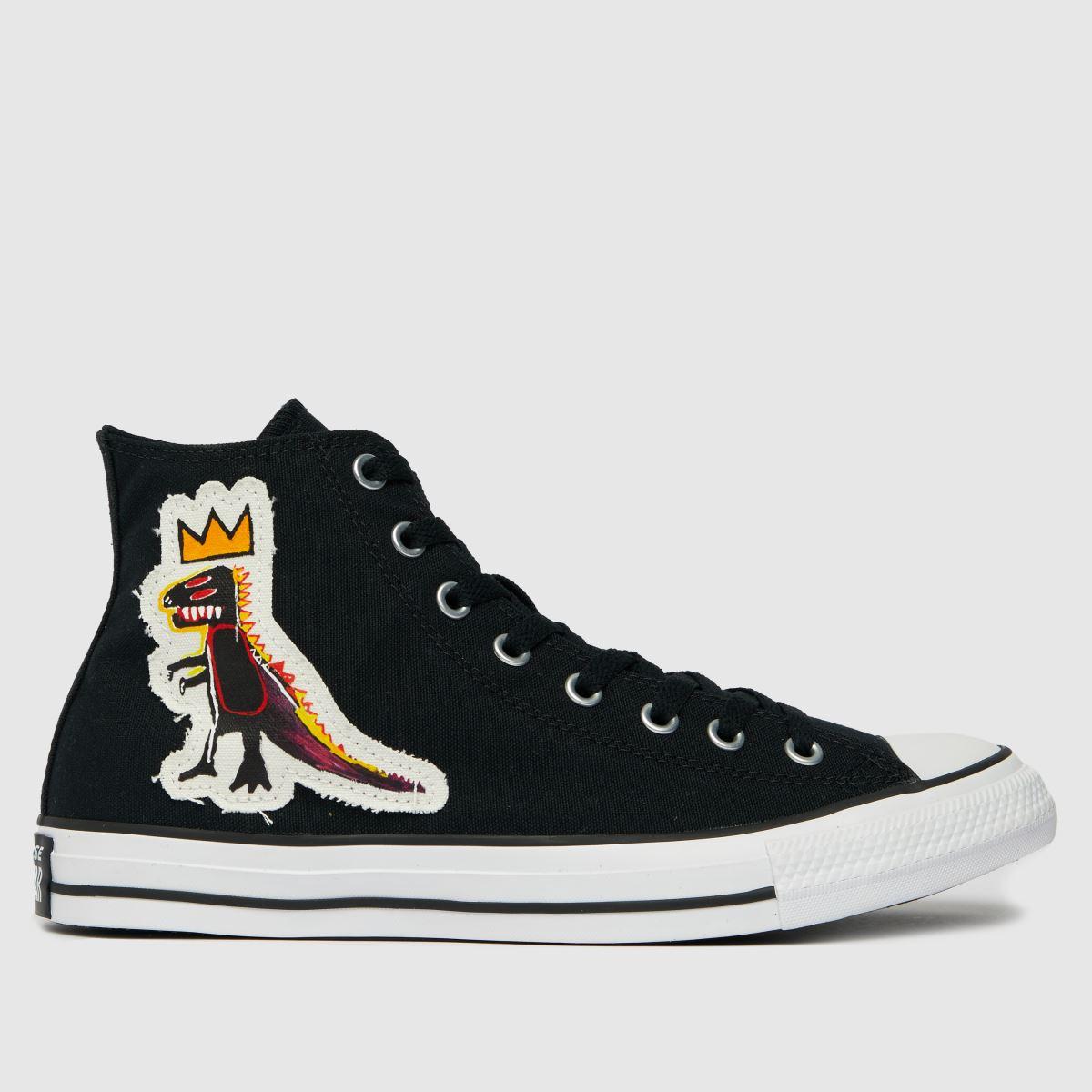 Converse Black & White Basquiat Hi Trainers