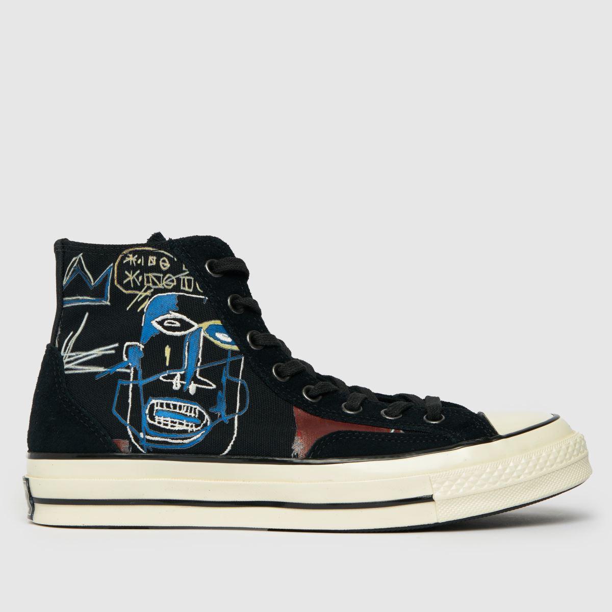 Converse Black & Brown Basquiat Chuck 70 Hi Trainers