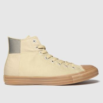 Converse Beige & Brown Hi Mens Trainers