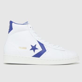 Converse white hi pro leather trainers