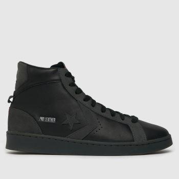 Converse Black Hi Pro Leather Mid Mens Trainers